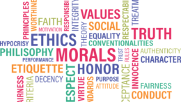 Wordcloud zu Ethik Unternehmenskommunikation